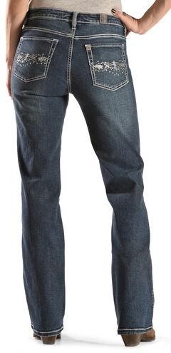 Wrangler Aura Women's Instantly Slimming Bootcut Jeans, , hi-res