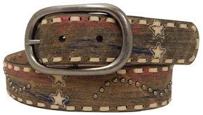 Roper Women's Tan Americana Print Belt, Tan, hi-res