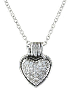 Montana Silversmiths Rancher's Heart Necklace, , hi-res