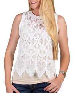 Shyanne Women's Allover Lace Tank Top, , hi-res