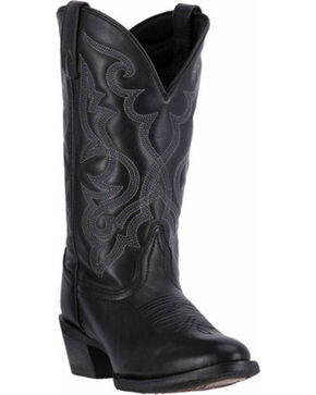 Laredo Maddie Cowgirl Boots - Medium Toe, Black, hi-res