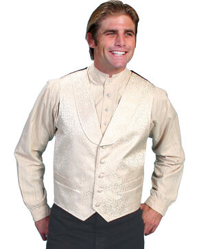 Rangewear by Scully Kirksey Scroll Vest, Cream, hi-res