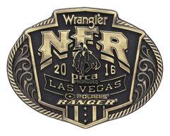 Montana Silversmiths 2016 Wrangler NFR Brass Cast Attitude Buckle, , hi-res