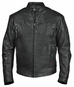 Interstate Leather Men's Beretta Leather Riding Jacket, , hi-res