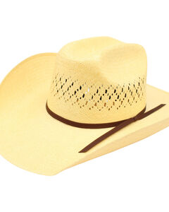 Ariat Men's 10X Maverick Double S Straw Hat, , hi-res