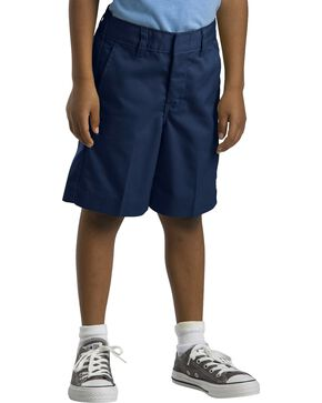 Dickies Boys' Flex Waist Flat Front Shorts - 16-20, Navy, hi-res