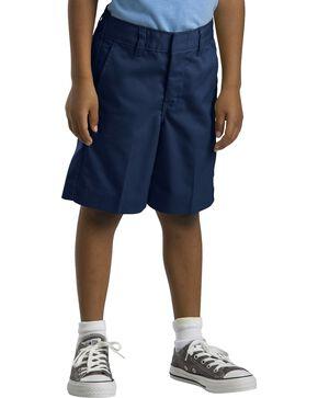 Dickies Boys' Flex Waist Flat Front Shorts - 16-20, Navy, hi-res