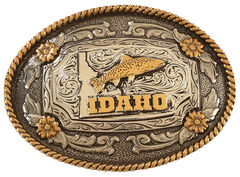 Cody James Two Tone Idaho Oval Belt Buckle, , hi-res