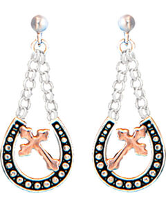 Montana Silversmiths Women's Walking God's Path Dangle Earrings , , hi-res