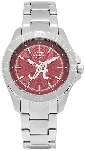 Jack Mason Women's Alabama Team Color Dial Sport Bracelet Watch , Silver, hi-res