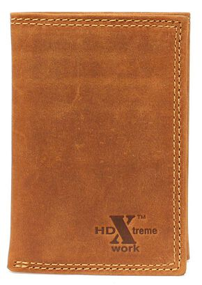 Nocona HDX Tri-Fold Wallet, Med Brown, hi-res