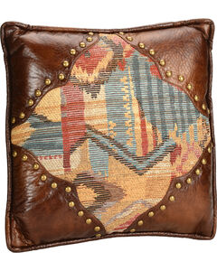 HiEnd Accents Ruidoso Square Pillow with Scalloping, , hi-res