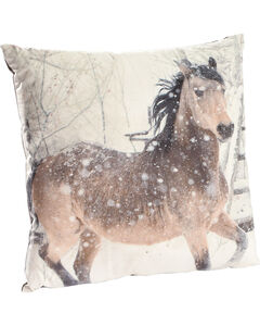 BB Ranch Horse Print Decorative Velvet Pillow, , hi-res