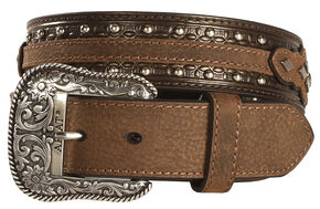 Ariat Austin Concho Belt, Black, hi-res