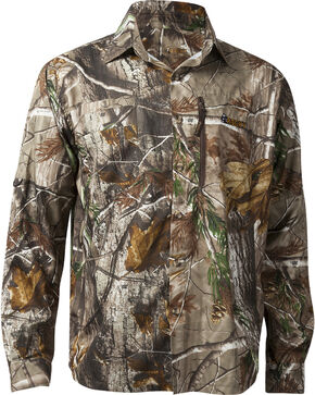 Rocky Men's Arid Light Button-Down Shirt, Camouflage, hi-res
