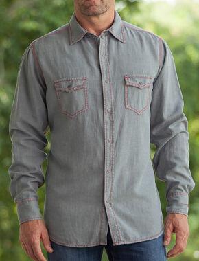 Ryan Michael Men's Birdseye Dobby Shirt, Slate, hi-res