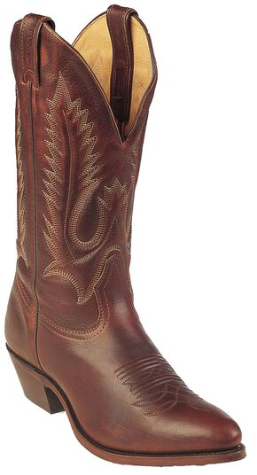 Boulet Cowboy Boots - Medium Toe, Brown, hi-res