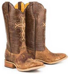 Tin Haul Ichthys Philippians 4:13 Cowboy Boots - Square Toe, , hi-res