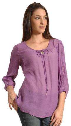 New Direction Sport Women's Crochet Sleeve Tunic, , hi-res