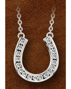 Kelly Herd Sterling Silver Horseshoe Charm Necklace, , hi-res