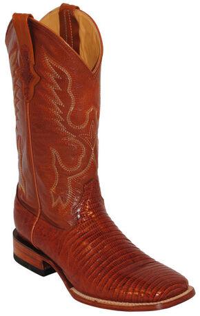 Ferrini Men's Teju Lizard Exotic Western Boots - Square Toe, Peanut, hi-res
