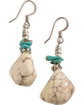 Julie Rose Genuine True Turquoise and Stone Earrings, Natural, hi-res