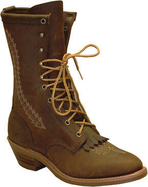 Abilene Boots Men's Brown Western Packer Boots, Brown, hi-res