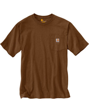 Carhartt Men's Workwear Pocket T-Shirt - Big and Tall, Brown, hi-res