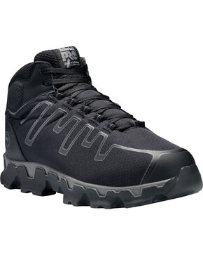 Timberland Pro Men's Powertrain Mid EH Work Shoes - Alloy Toe, Black, hi-res