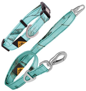Browning Blue Large Collar and Leash Combo Pack, Blue, hi-res