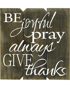 BB Ranch Be Joyful Give Thanks Wooden Sign, No Color, hi-res