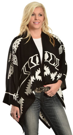 Cowgirl Justice Women's Thunderbird Poncho, , hi-res