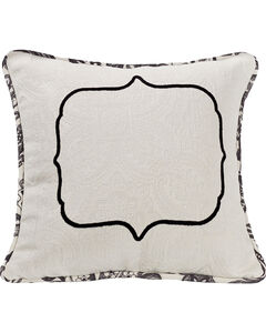 HiEnd Accents Augusta Matelasse Pillow with Embroidery Detail, , hi-res