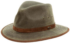 Outback Trading Co. Tan Madison River UPF50 Sun Protection Oilskin Hat, , hi-res