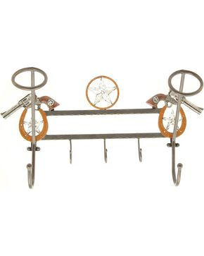 Pistol Hanging Hat Rack with Hooks, Multi, hi-res