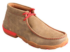 Twisted X Men's Brown and Red Driving Mocs , , hi-res