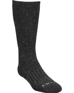 Carhartt Charcoal Full-Cushion Recycled Wool Crew Socks, Charcoal Grey, hi-res