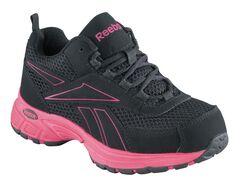 Reebok Women's Kenoy Cross Trainer Shoes - Steel Toe, Black, hi-res