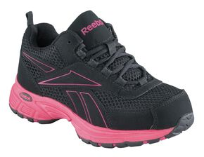 Reebok Women's Kenoy Cross Trainer Shoes - Steel Toe, Black, hi-res