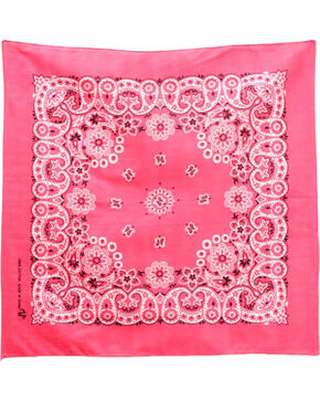M&F Western Dark Pink Western Fashion Bandanna , No Color, hi-res