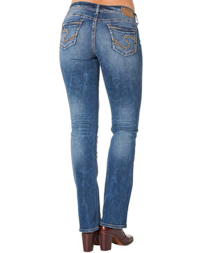 Silver Women's Suki Mid Slim Bootcut Medium Wash Jeans , Blue, hi-res