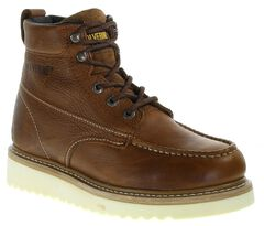 "Wolverine 6"" Lace-Up Wedge Work Boots - Round Toe, , hi-res"