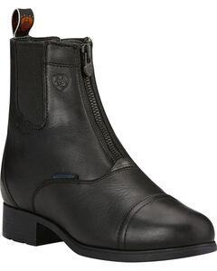 Ariat Women's Black Bromont Pro Zip Insulated Paddock Boots, , hi-res