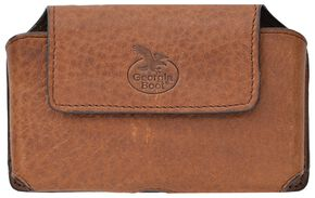 3D Georgia Boot Leather Smartphone Holder, Brown, hi-res