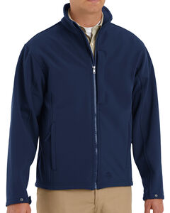 Red Kap Men's Navy Soft Shell Jacket - Big & Tall , , hi-res