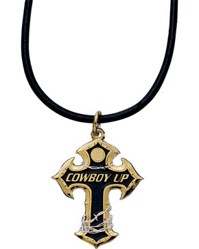 Montana Silversmiths Cowboy Up Cross Necklace, Multi, hi-res