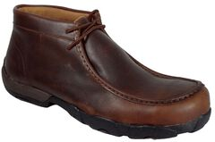 Twisted X Driving Lace-Up Moccasin Shoes - Composition Toe, Oiled Rust, hi-res