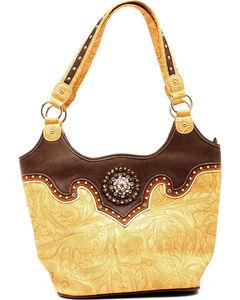 Blazin Roxx Tan Embossed Bucket Shoulder Bag, , hi-res