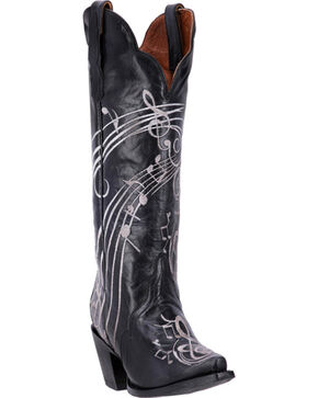 Dan Post Women's Black Treble Boots - Snip Toe, Black, hi-res