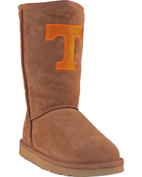 Gameday Boots Women's University of Tennessee Lambskin Boots, Tan, hi-res